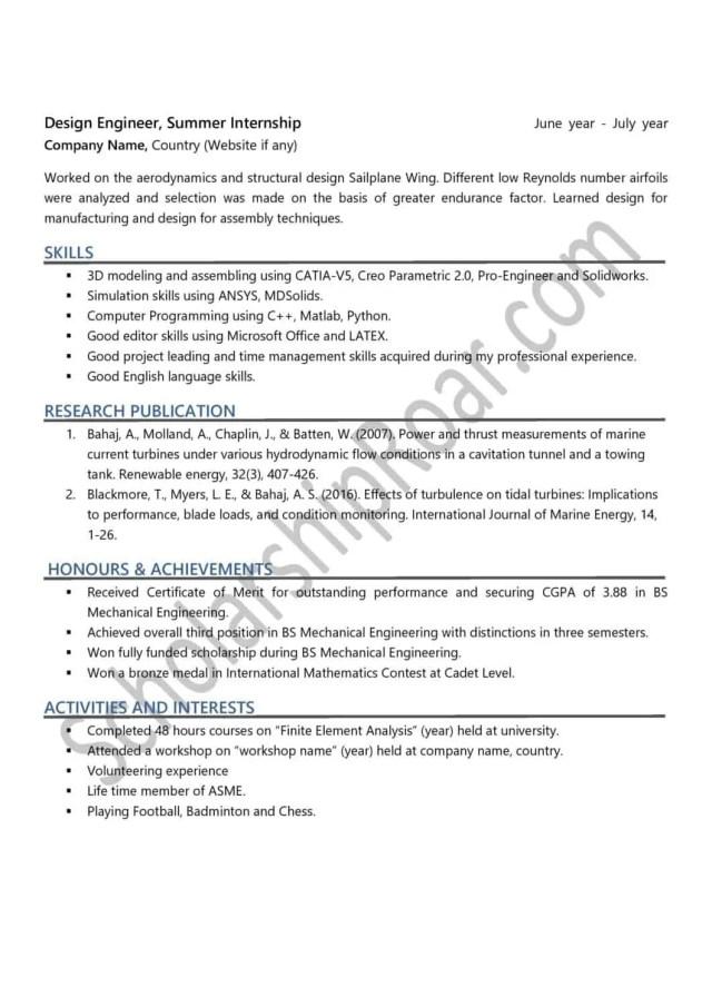 Academic CV for Scholarship
