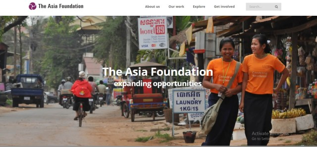 The Asia Foundation Development Fellows provides a platform in helping forge leadership. This program trains highly qualified and young professionals from all over Asia.