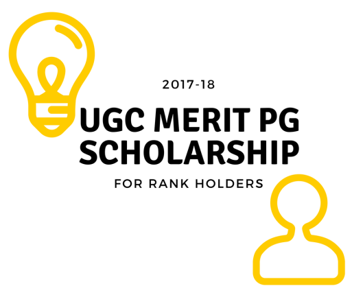 UGC merit PG scholarship for rank holders