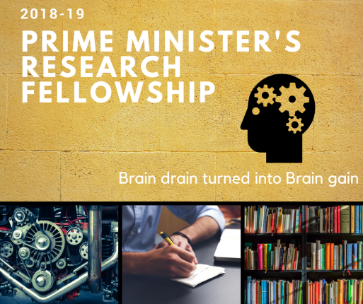 Prime Minister's Research Fellowship Rs. 80,000 per Year 2018-19