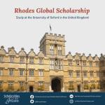 Rhodes Global Scholarships – University of Oxford's Postgraduate Study in the UK