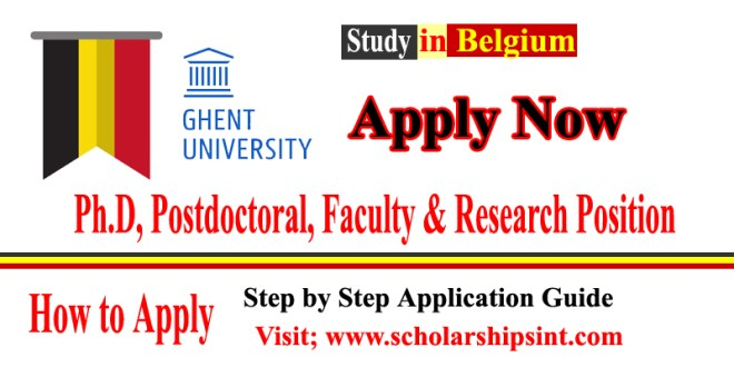 Study at Ghent University, Belgium 2021