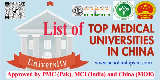 List of Medical Universities Approved by MOE China and PMC Pakistan