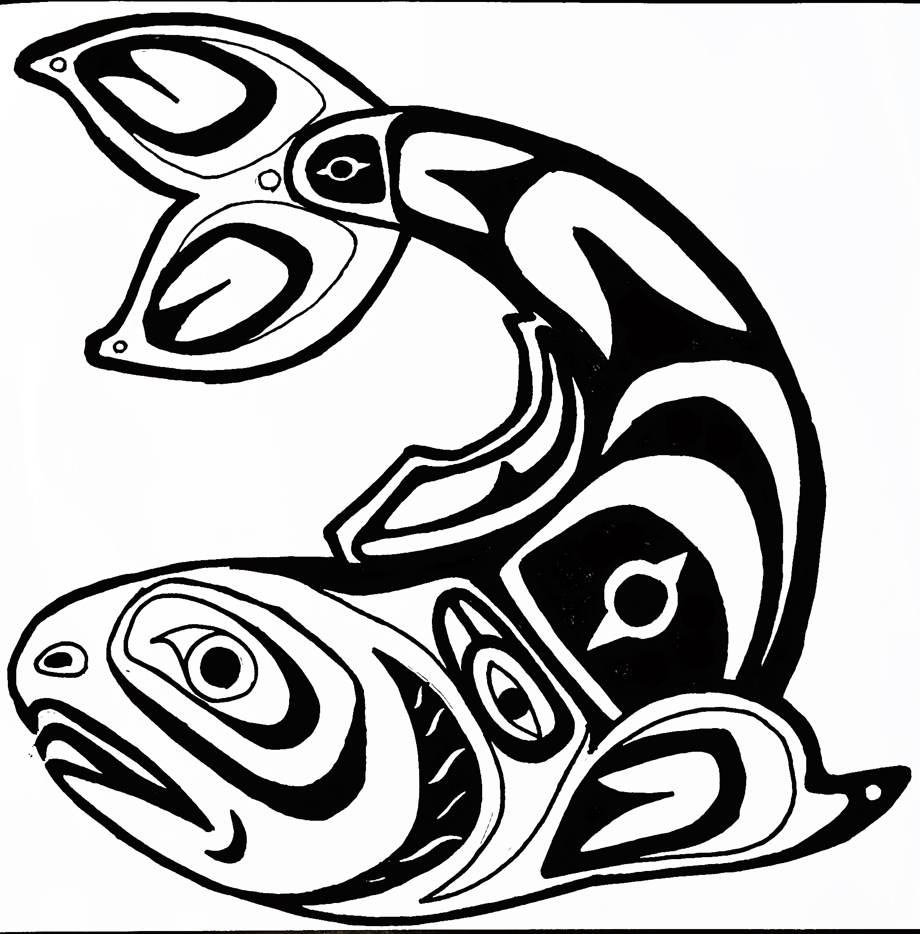 Native American Salmon Coloring Pages