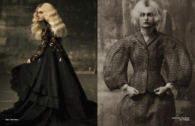 Dress / Claes Iversen Opposite Jacket & skirt / Thom Brown Top / J.Urquiaga