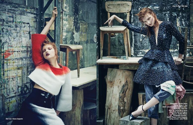 Total look / Ulyana Sergeenko Opposite Dress & shoes / Elie Saab