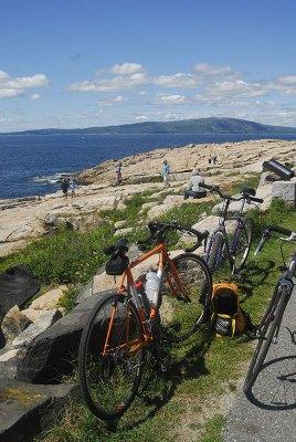 Road biking on the Schoodic Scenic Peninsula