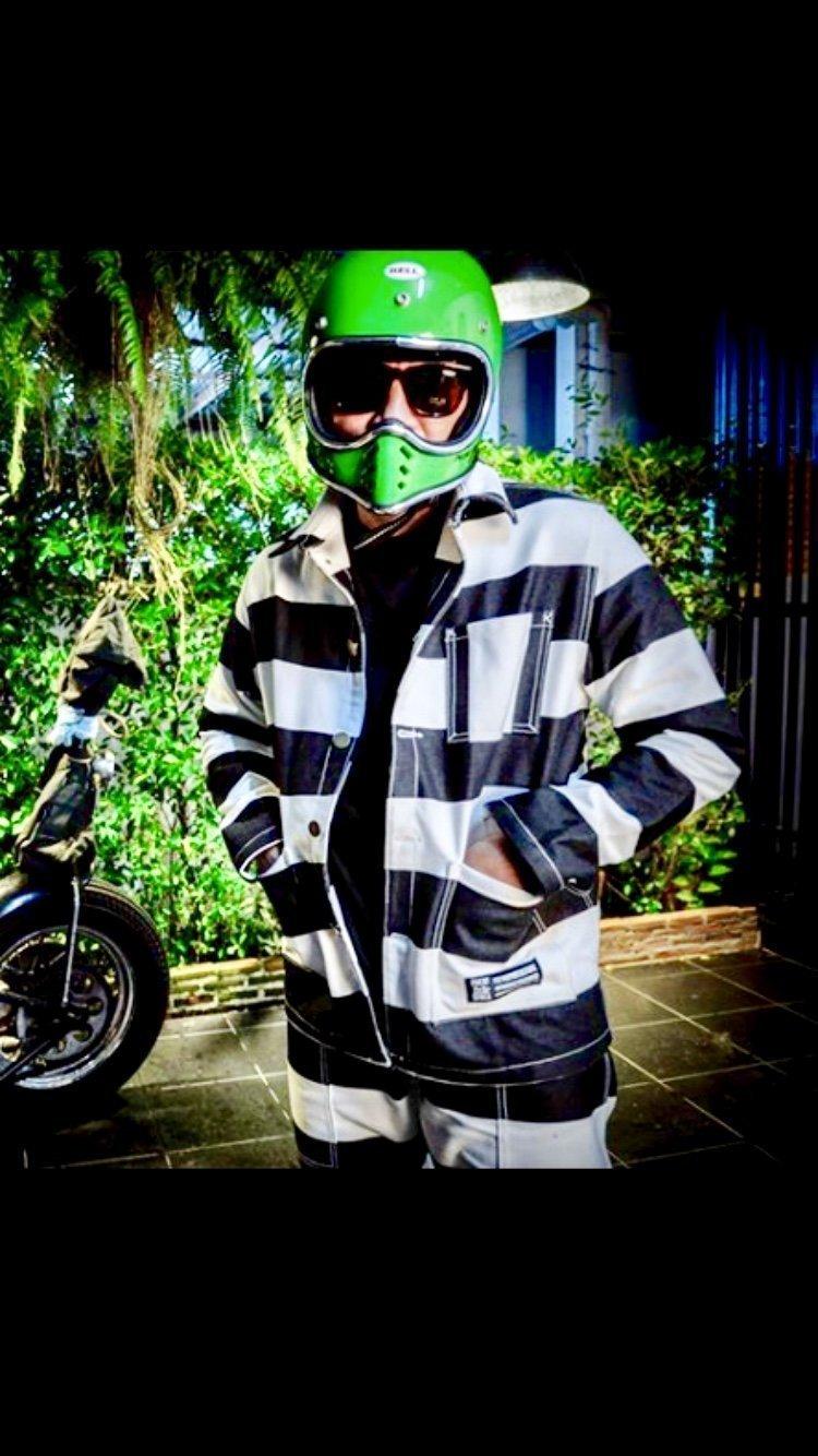Veste Cool School Denim Style Prisonnier Japan Of U0xwUq6rg