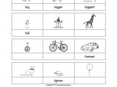 1 first grade worksheets adjectives