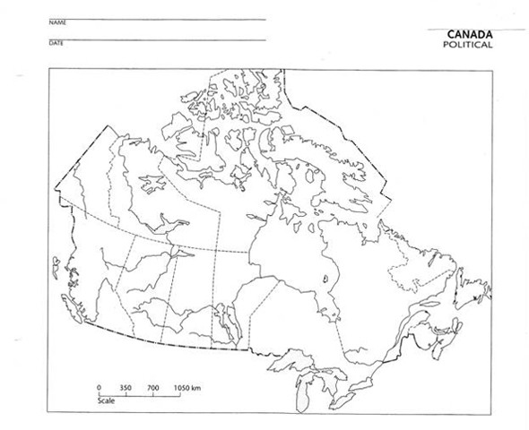 Canada Geography Worksheets #3