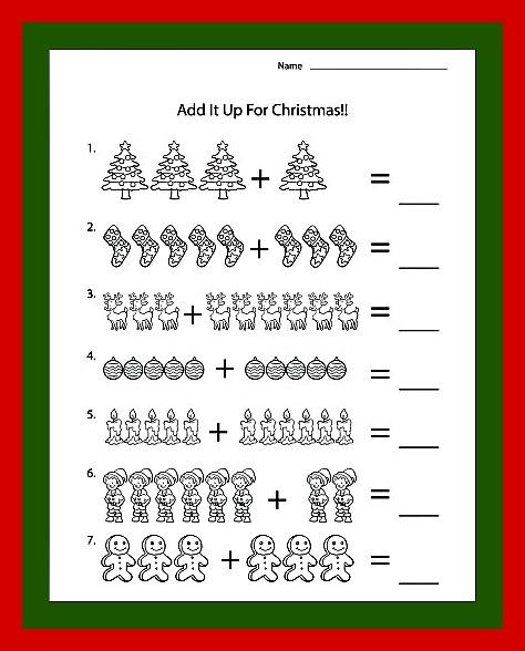Christmas Music Worksheets #5