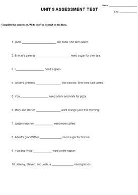 Cloze Test Worksheets #5