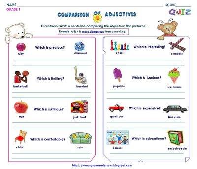 Comparing Adjectives Worksheets #4