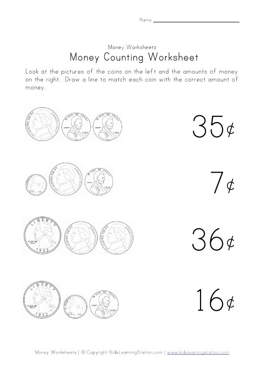 Count Money Worksheets #3