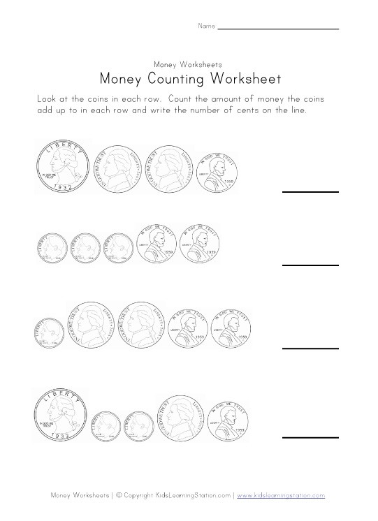 Count Money Worksheets #5