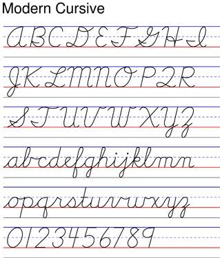 D Nealian Cursive Handwriting Worksheets #4