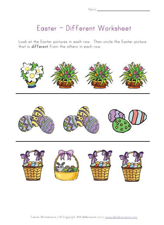 Easter Worksheets For Kids #1
