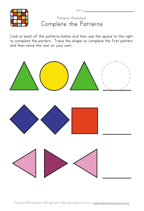 Easy Pattern Worksheets #4