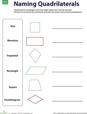 Elementary Geometry Worksheets #4