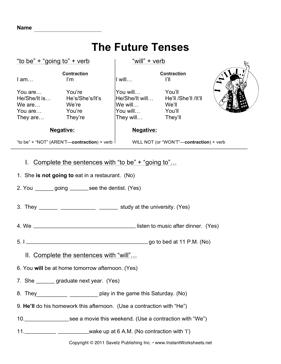 English Future Tense Worksheets #3