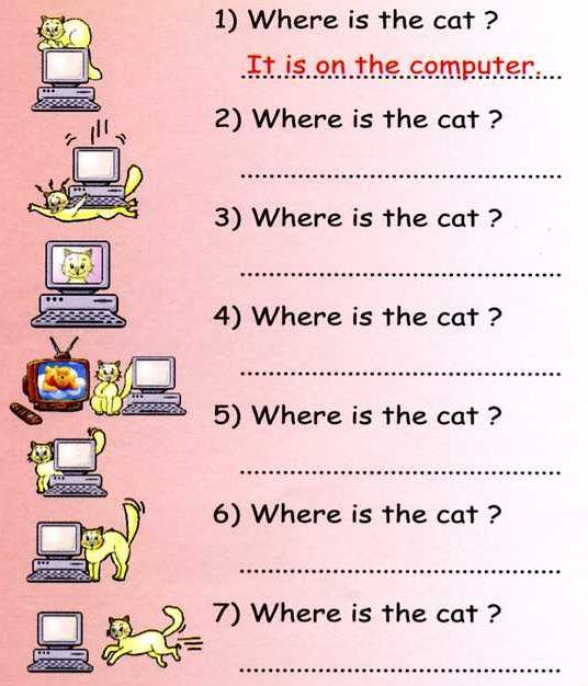 Esl Prepositions Worksheets #4