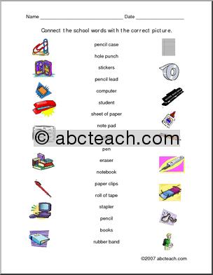 Esl Vocabulary Worksheets #1