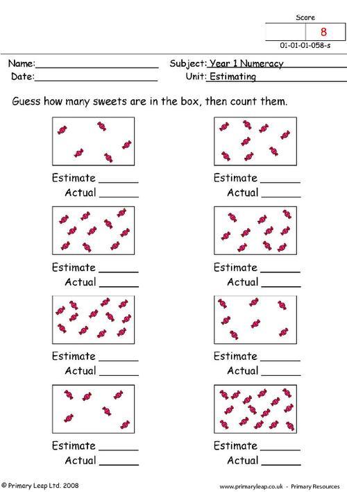 Estimating Money Worksheets #4