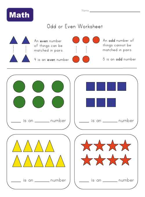 Even And Odd Numbers Worksheets #1
