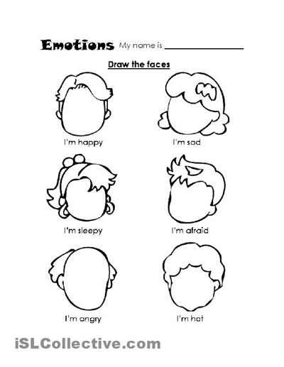 Feelings Worksheets For Kids #5