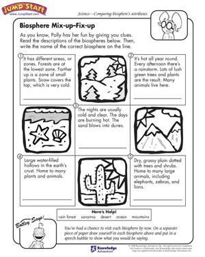 Free 3rd Grade Science Worksheets #5
