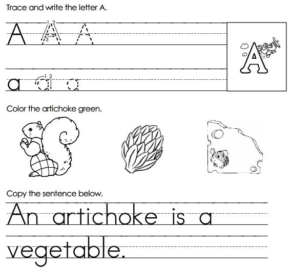 Free Alphabet Worksheets For Kids #4