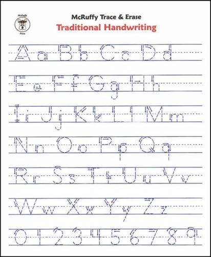 Free Handwriting Alphabet Worksheets #1