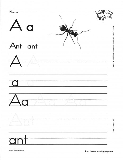 Free Kindergarten Alphabet Worksheets #1
