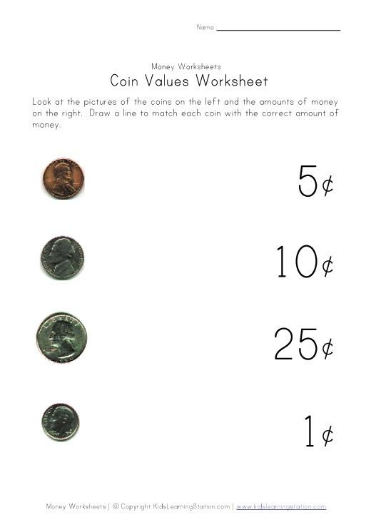 Free Money Worksheets For Kindergarten #2