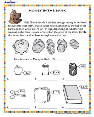 Free Money Worksheets For Kindergarten #3