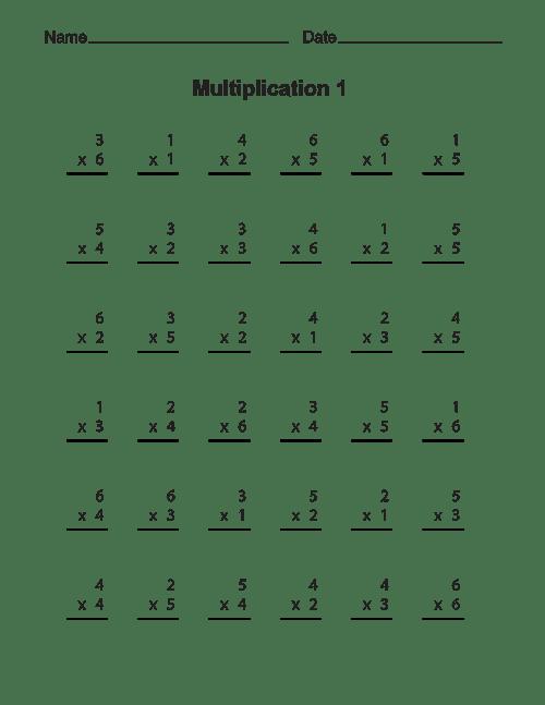 Free Printable Multiplication Worksheets For Kids #3