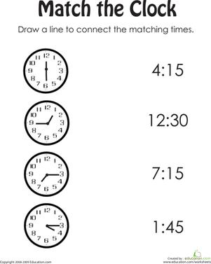Free Printable Time Worksheets #4