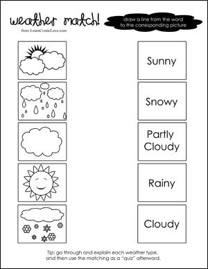 Free Printable Weather Worksheets #2