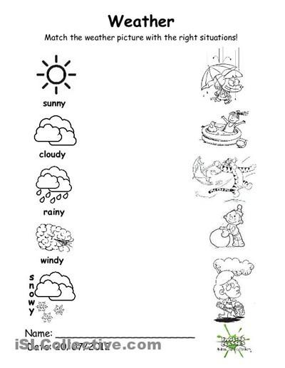Free Weather Worksheets For Kindergarten #2