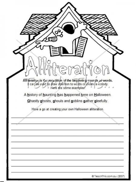 Free Worksheets On Alliteration #2