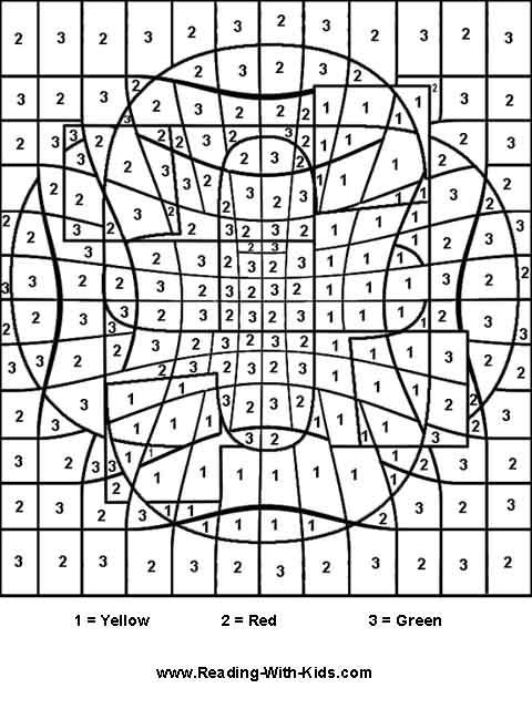Hard Color By Number Worksheets #4