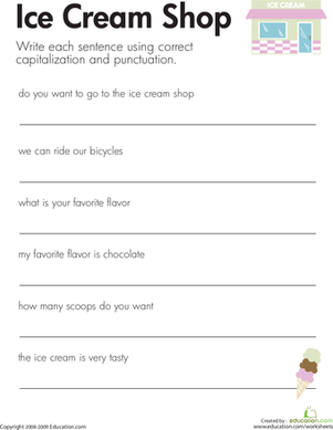Interrogative Sentence Worksheets #2