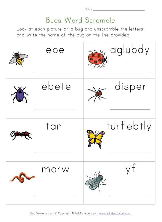 Kids English Worksheets #1