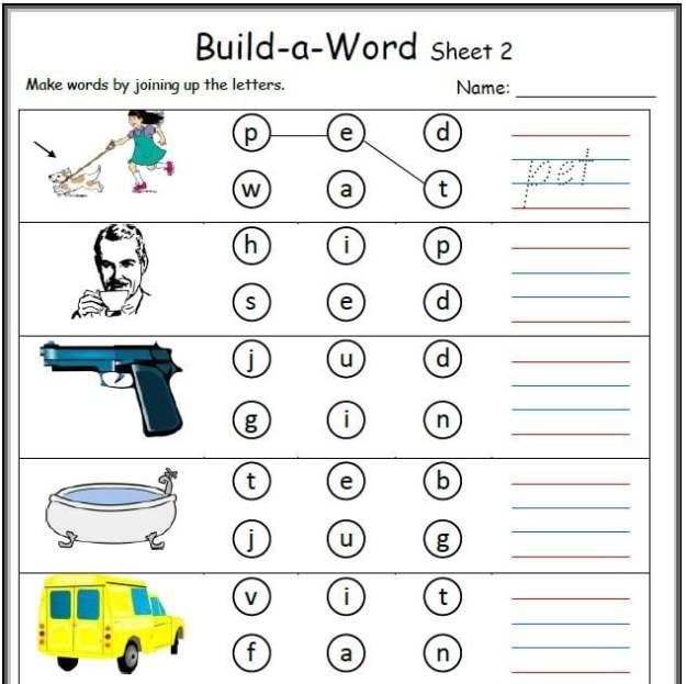 Kindergarten Cvc Worksheets #4