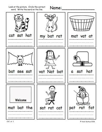 Kindergarten Cvc Worksheets #5