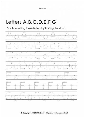Letters Worksheets Printable #1