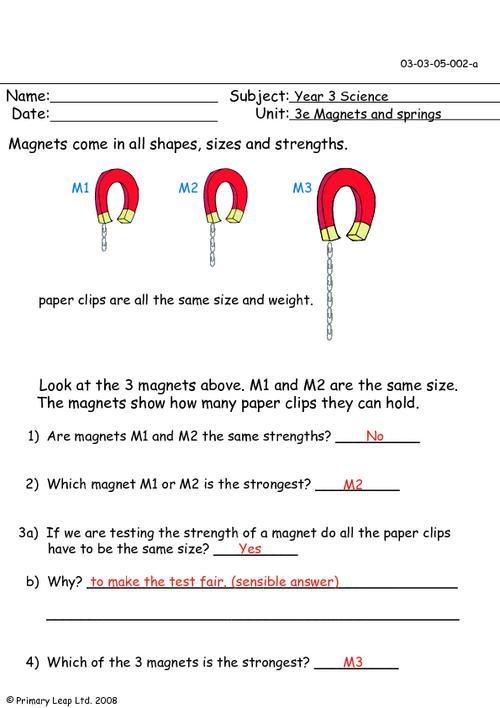 Magnet Worksheets For Kids #3