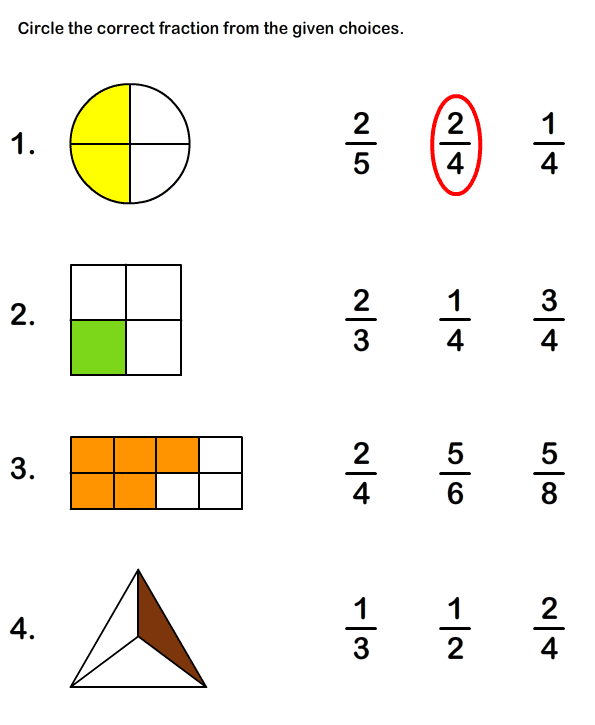 Math Fractions Worksheets #2