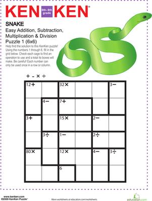 Math Puzzles Worksheets #5