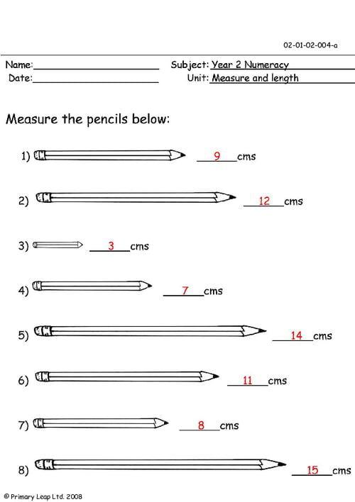 Measuring Length Worksheets #1